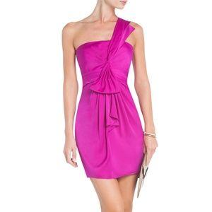 BCBG MAXAZRIA Palais One Shoulder Cocktail Dress 8